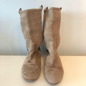 Dolce Vita Woven Suede Slouch Boots